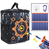 Target Pouch Storage - Carry Equipment Bag with 20 Bullets Darts & 2 Hooks for Nerf N-strike Elite/Mega/Rival Series
