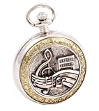 Product review of Shoppewatch Pocket Watch Music Symbols Roman Numeral with Chain for Musician Steampunk Cosplay PW-94