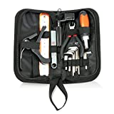Pyle Bass Electric Classic Acoustic Guitar Maintenance Tool Kit - Luthier Accessories Set for String - Restring & Starter Setup Accessory Hardware Tools w/ Case for Beginner Junior & Pro - PGUTRPKIT11