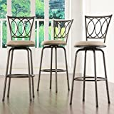 Product review for Home Creek Scrolled Detail Adjustable Swivel Barstools - Set of 3