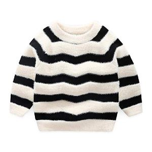 BCVHGD Kids Sweaters Girls Striped Sweaters Children Pullover Autumn Baby boy Knitted top boy Sweater Winter
