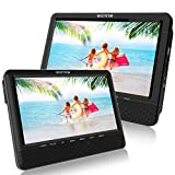 WONNIE 9.5 Car Dual Portable DVD Players, 1024x800 HD LCD TFT, USB/SD/MMC Card Readers, Built-in 5 Hours Rechargeable Battery, Stereo Sound, Regions Free, AV Out & in