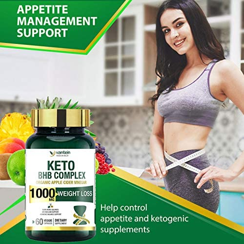 Keto Pills, 60 Capsules Fat Burner & Weight Loss BHB Supplement Formula Keto Burn Diet Pills, Women Men Appetite Suppressant Increases Energy Support, 30 Day Supply 3