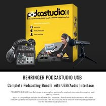Behringer-PODCASTUDIO-USB-Complete-Podcasting-Kit-wUSB-Audio-Interface-and-Studio-Monitors-Deluxe-Accessory-Bundle