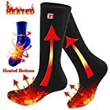 Rabbitroom Electric Heated Socks Rechargeable Battery Thermal Heating Foot Warmer (Black)