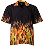 Benny's Red Flames Bowling Shirt XL