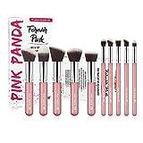 PINKPANDA Makeup Brushes 10 Pcs Sakura Pink Professional Make up Brushes Set Premium Synthetic Cosmetic Foundation Blending Blush Concealers Eye Shadows Face Powder Kabuki Make Up Brushes Kit