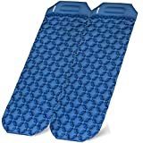 Binffeey Sleeping Pads for Backpacking Two-Person Inflatable Lightweight Camping Pad Portable Air Sleeping Mat with Pillow for Camping Hiking Traveling