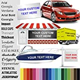 Design Your Own (1' High) Custom Vinyl Sticker | Car Window, Boat, Yeti Lettering JDM Automotive Windshield Graphic Name Letter Auto Vehicle Door Banner Sign Personalized Decal (UP to 12' Long)