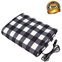 "Sweetdecor Car Heated Travel Blanket 12-Volt Heated Travel Blanket Automotive Heated Electric Throw Electric Car Blanket for Cold Weather Tailgating, and Emergency Kits,57"" 40"""