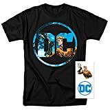 Aquaman DC Comics Logo T Shirt & Exclusive Stickers (Small)