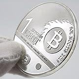One Bitcent BTC BitBit Silver Copy Coins Souvenir Metal Craft Bitcoin Coin
