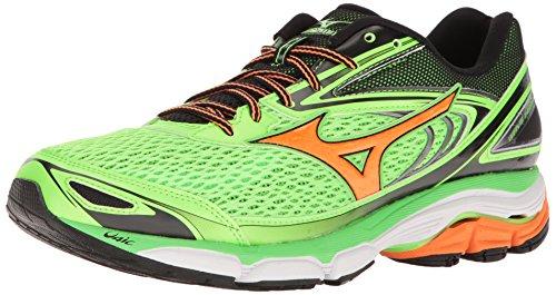 Mizuno Men's Wave Inspire 13 Running Shoe, Gunmetal/High Risk Red, 8.5 D US