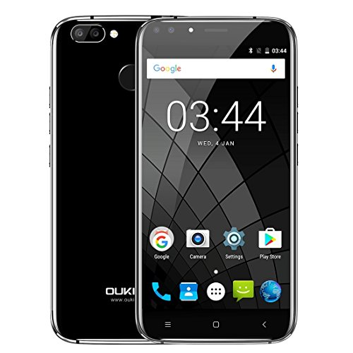 OUKITEL U22 2GB+16GB 5.5 Inch Android 7.0 MTK6850A Quad Core up to 1.3GHz WCDMA & GSM (Black)