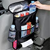 Dolland Black Multi Auto Car Seat Back Ice Pack Bag Insulation Cooler Storage Bag