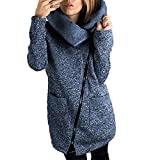 Product review for Wancy Womens Long Sleeves Lapel Zip up Slim Fit Warm Casual Jacket Coat Sweatshirt