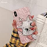 Maxlight Cute Pink Marie Cat Conch Shell Phone Case for iPhone 8 Case for iPhone Xs MAX XR X 7 8 Plus Back Cover Lovely Funny Case (Style2, for iPhone 7plus 8plus)