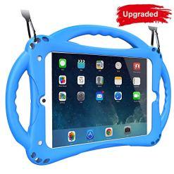 51mlXtcfu2L - [New Design]TopEsct iPad Mini Case Kids Shockproof Handle Stand Cover for iPad Mini, Mini 2, Mini 3, Mini 4 and Mini 5(2019 Model)(iPad Mini,Blue)