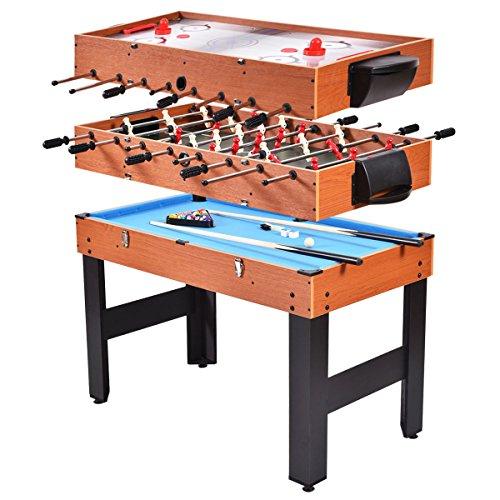 Giantex Multi Game Table Pool Hockey Foosball Table Tennis Billiard Combination Game Table (48'...