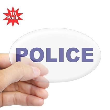 Amazoncom Cafepress Police Sticker Oval 10 Pk Oval