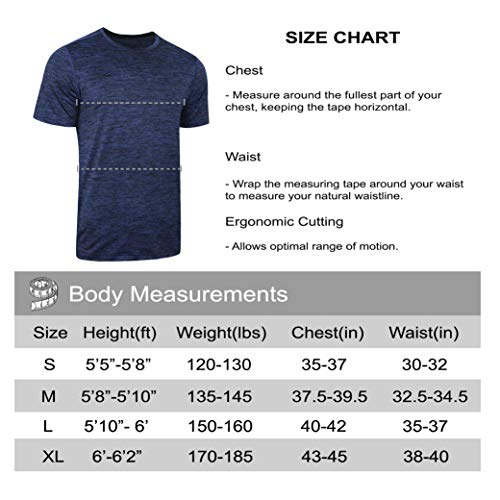 5 Pack Men's Active Quick Dry Crew Neck T Shirts   Athletic Running Gym Workout Short Sleeve Tee Tops Bulk 20 Fashion Online Shop gifts for her gifts for him womens full figure