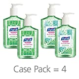 PURELL Advanced Hand Sanitizer Soothing Gel for the workplace, Fresh scent, with Aloe and Vitamin E - 8 fl oz pump bottle (Pack of 4) - 9674-06-ECDECO