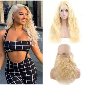 613 Lace Front Wig Human Hair Wigs Soft Blonde Wigs For Women 613 Lace Wigs With Baby Hair Pre Plucked Natural Hairline 150 Density 9a Grade 20 inch 51mpjPK0LRL