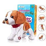 Pekingese Dog Interactive Barking Puppy Plush Animated Pet Electronic Dog Cute Robot Dog Baby Toys Touch Control Plush Stuffed Animal Dog Toy Toddler Kids Girl Toys Length 12'