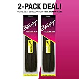 2-PACK DEALS! Outre Remy Human Hair Weave Beat Brazilian Remi (20', 1B)