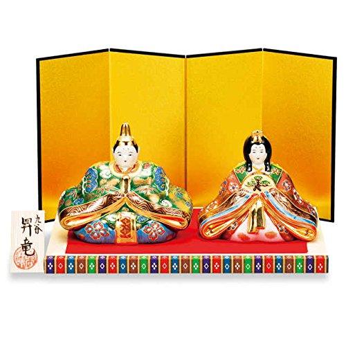"""Japanese Ceramic kutani ware. display dolls for Girls' Festival Hina ningyo. """" Japanese ceramic Hagiyakiya 3053"""