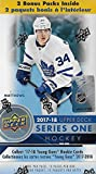 2017 2018 Upper Deck NHL Hockey Series One Factory Sealed Unopened Blaster Box of 12 Packs Possible Young Guns Rookies and Jerseys