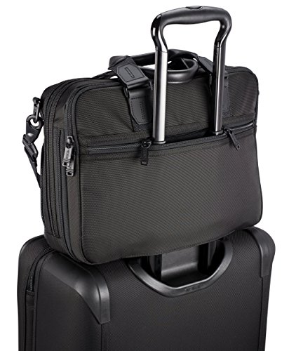 1c914a315345 TUMA0 Men's Alpha Bravo Albany Slim Commuter Brief Briefcase, Black ...