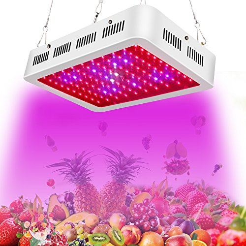 LED Grow Light-Roleadro Grow Lights for Indoor Plants from Seeding to Harvest Full Spectrum 300W with UV/IR Higher Actual Power/PAR