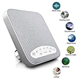 Premium Sleep Therapy Sound Machine - 6 Soothing All-Natural Sounds - White Noise, Fan, Ocean, Rain, Stream, and Summer Night - Plus Auto-Off Timer and USB Output