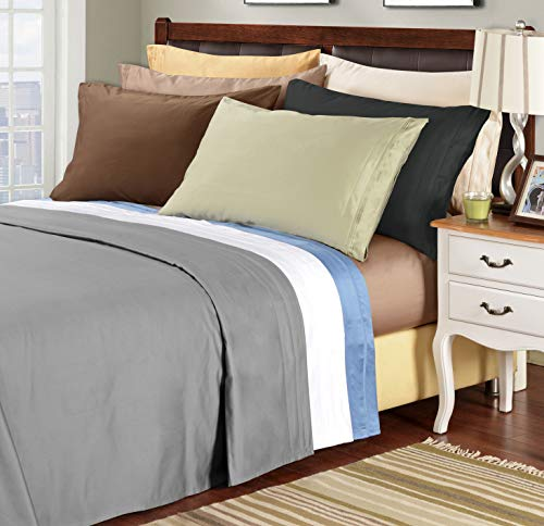 Superior 100% Egyptian Cotton 1500 Thread Count Sheet Set, Queen, Grey