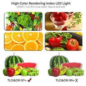 GVM-2-Pack-LED-Video-Lighting-Kits-with-APP-Control-Bi-Color-Variable-2300K6800K-with-Digital-Display-Brightness-of-10100-for-Video-Photography-CRI97-TLCI97-Led-Video-Light-Panel-Barndoor