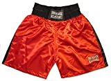 Traditional Boxing Trunks, Blue or Red Color. Kids and Adult Sizes (Small (Kids 4 to 7 Years), Red)