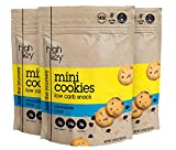 HighKey Snacks Keto Mini Low Carb Cookies - Chocolate Chip, Pack of 3, 2.25oz Bags - Keto Friendly, Gluten Free, Healthy Snack - Sweet, Diet Friendly Dessert - Ketogenic Food with Natural Ingredients