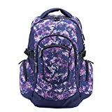 School Bag for Girls and Boys, Adventeam Large Capacity Durable Backpack, Purple