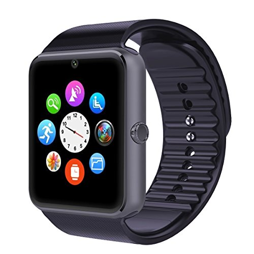 Smart Watch ,Pashion Bluetooth Smartwatch All in 1 Unlocked Wrist Watch Phone with SIM Card Slot and NFC Smart Health Watch for Samsung HTC Android and IOS IPhone SmartphonesBlack  Image of 51n8 OeVTiL