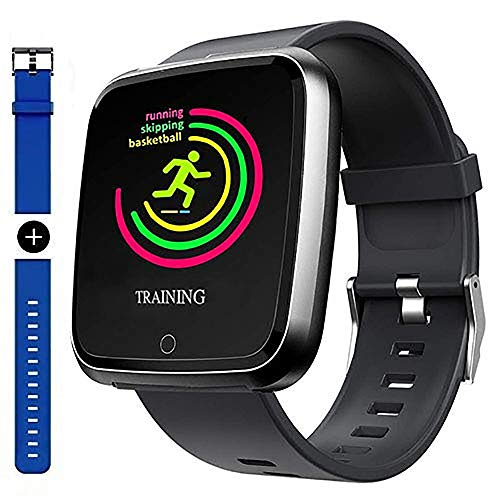 Smart Watch, Sport Waterproof Smartwatch, Fitness Tracker with Heart Rate Blood Pressure Sleep Monitor Calorie Burn Counter, Message Call Reminder Smart watch with Magnetic Charger for Men Women Kids.
