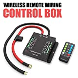 Automotive Wireless Remote Wiring Control Box - Electronic 8 Relay System Module - Wiring Harness Kit With FREE Wireless Remote Control - Power up to 8 Accessories and LED Off Road Light Bars
