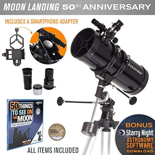 Celestron Powerseeker 127Eq Telescopio Edición Limitada Apollo 11 50 Aniversario Bundle
