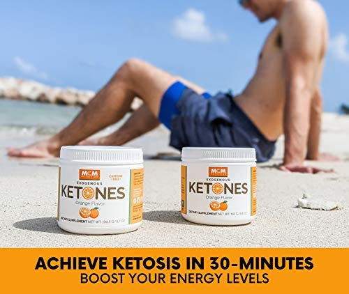 MCM Nutrition - Exogenous Ketones Supplement & BHB - Caffeine Free and Suppresses Appetite - Instant Keto Mix That Puts You into Ketosis Quick & Boosts The Keto Diet (Orange Flavor - 15 Servings) 4