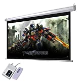 Yescom 92' 16:9 Electric Motorized Projector Screen Auto with Remote Control Home Classroom Meeting Room Bar