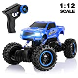AOKESI 1:12 RC Cars Remote Control Monster Truck 4WD Dual Motors Rechargeable Off Road Remote Control Truck, Rock Crawler Vehicle Hobby Toy Gifts for Kids and Adults Blue