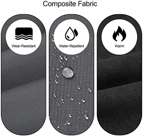 KUTOOK Women's Thermal Softshell Hiking Pants Windproof Polar Fleece Lined Cargo Pants for Winter Outdoor Sports 3