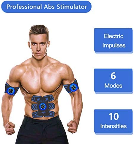 Abs Stimulator Ab Stimulator Recharge Muscle Toner Trainer Ultimate Abs Stimulator for Men Women Abdominal Work Out Ads Power Fitness Abs Muscle Training Gear ABS Workout Equipment Portable 4