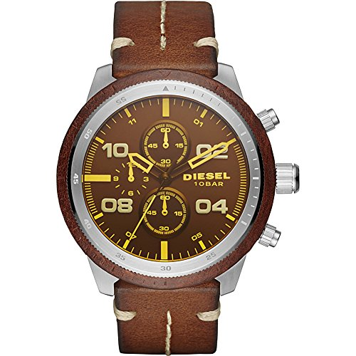 51nGDok4jAL Case thickness: 13 mm; case size: 50 x 53 mm; band width: 24 mm; strap circumference: 200 +/- 5 mm Strap material: leather; movement: chronograph; water resistance: 10 atm Quartz Movement