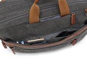 CoolBELL-Convertible-Backpack-Shoulder-bag-Messenger-Bag-Laptop-Case-Business-Briefcase-Leisure-Handbag-Multi-functional-Travel-Rucksack-Fits-156-Inch-Laptop-For-MenWomen-Canvas-Dark-Grey